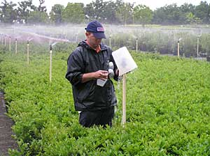 Monitoring irrigation water
